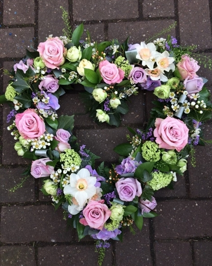 Picture of Lilac and Lavender Open Heart £95