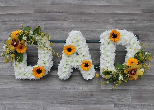 Picture of Dad Tribute Yellow and White