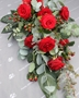 Picture of Red Rose Sheaf Style Spray