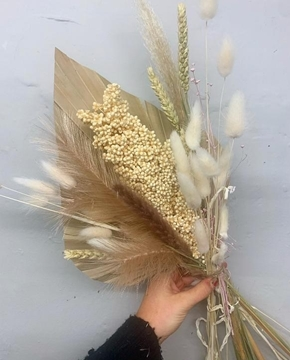 Picture of Dried Bouquet - Cream and Gold