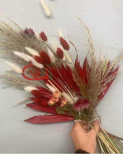 Picture of Dried Bouquet - Red and Pink