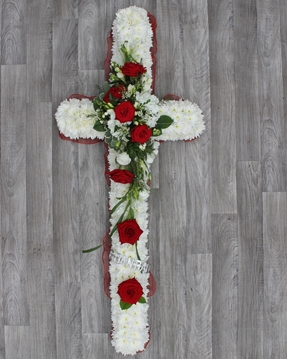 Picture of Cross - Based with Rose Spray