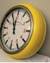 Picture of 'English Electric' Yellow Wall Clock