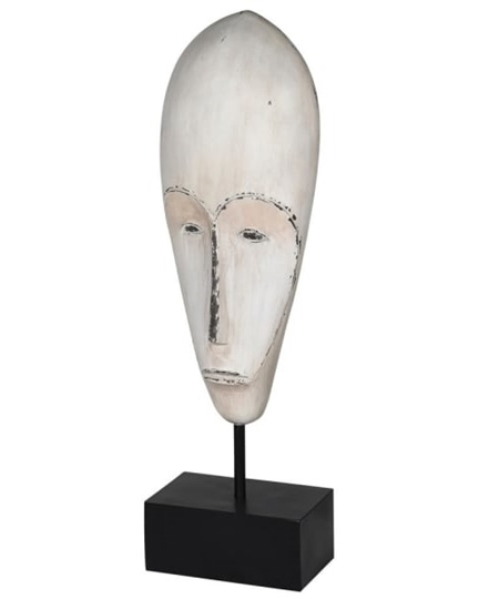 Picture of Distressed White Mask On Stand