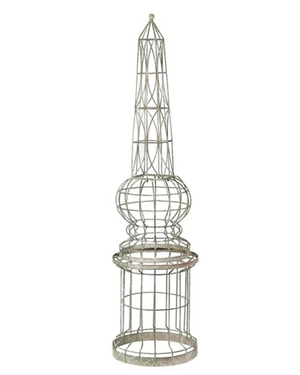 Picture of Tall Distressed Wire Obelisk