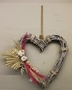 Picture of Wicker Heart - Pampas & Cotton Spray