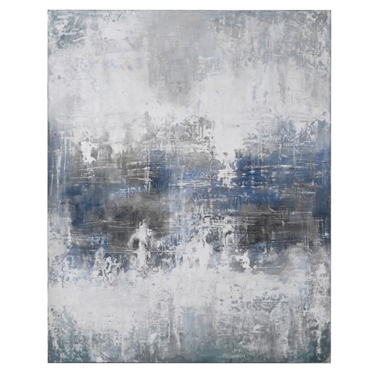 Picture of Large Blue Grey Abstract Oil Painting