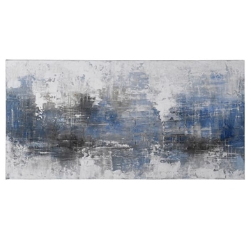 Picture of Bl/grey Abstract Oil Pnt