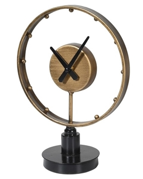 Picture of Round Clock On Base