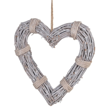 Picture of Rope Tied Hanging Willow Heart