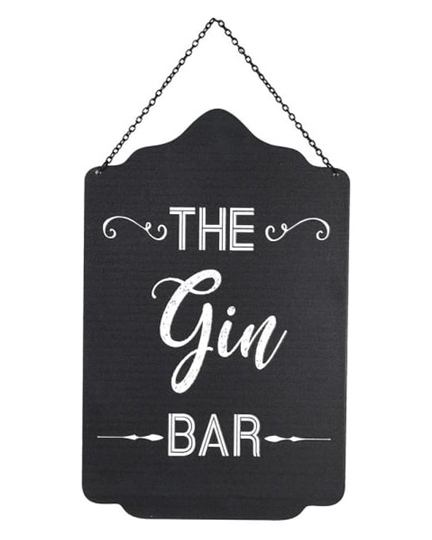 """Picture of Embossed """"The Gin Bar"""" Sign"""