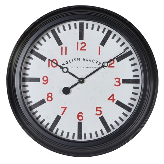 Picture of 'English Electric' Black Wall Clock