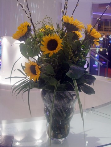 Sunflower & Eucalyptus Vase Display