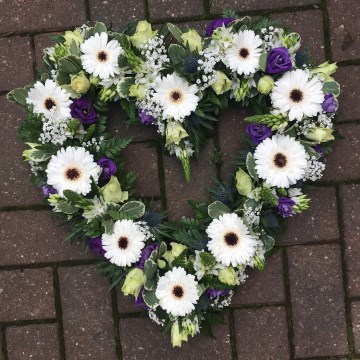 Open Heart Floral Tribute