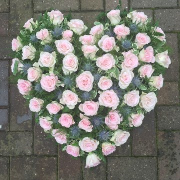 Heart Tribute Of Rose And Eryngium