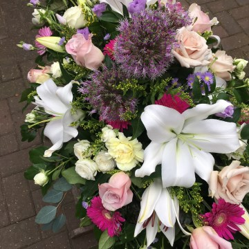 Casket Spray Mixed Selection Of Summer Blooms