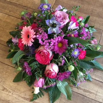 Posy Spray Of Mixed Pinks And Purples