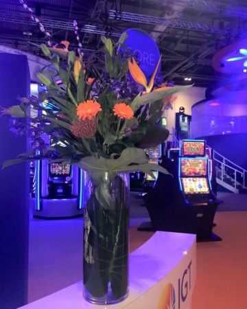 Contemporary Vase Display For IGT At ICE Totally Gaming