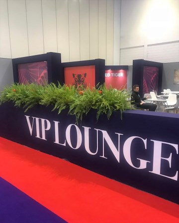 Nephrolepis Fern Planter For VIP Lounge At ICE Totally Gaming Excel London