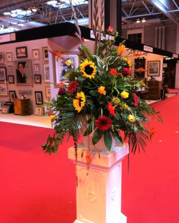Pedestal Display For Antiques Fair At National Exhibiton Centre NEC