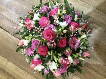 Posy Display - Mixed Pink And Ivory Tones