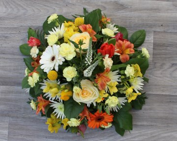 Posy Display - Orange - Lemon - Gold