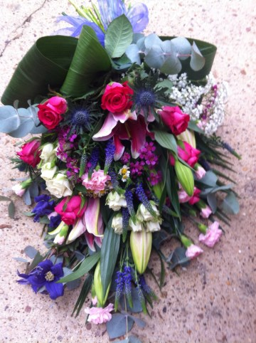 Hand Tied Sheaf Design - Cerise - Purple