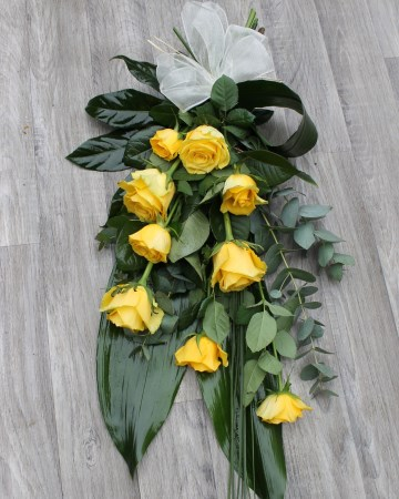 Hand Tied Sheaf Design - Yellow Roses