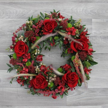 Wreath Display  - Reds