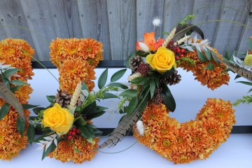 Personalised name floral tribute